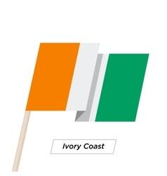 Ivory coast sharp ribbon waving flag isolated vector