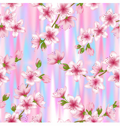 japanese cherry blossom sakura branches seamless vector image