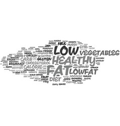 lowfat word cloud concept vector image