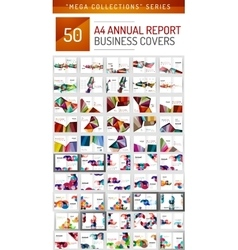 Mega collection of 50 business annual report vector