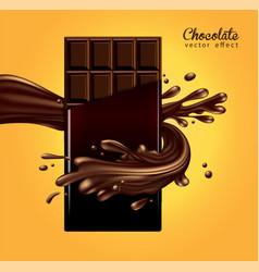 mockup advertising chocolate dark chocolate bar vector image