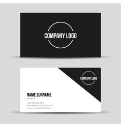 Modern black business card template vector image