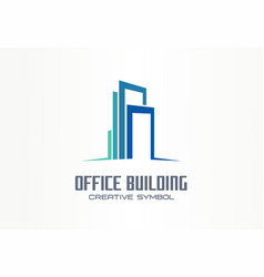 office building creative symbol concept finance vector image
