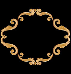 ornamental vintage frame for your text in golden vector image