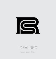 R and s initial logo rs initial monogram logotype vector