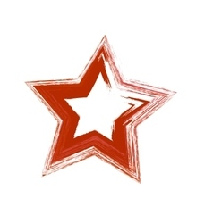 Red grunge star vector
