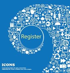 Register sign icon Membership symbol Website vector