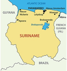 Republic of Suriname - map vector image