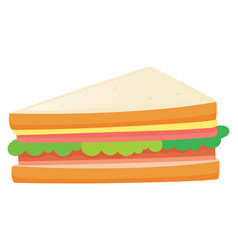 Sandwiches with meat and vegetables vector
