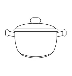 saucepan silhouette vector image