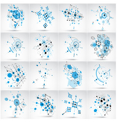 set of modular bauhaus backgrounds created from vector image