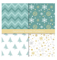 set of seamless christmas vector image