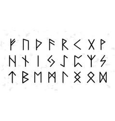 set ordered celtic or anglo saxon elder futhark vector image