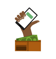 smartphone money transfer vector image