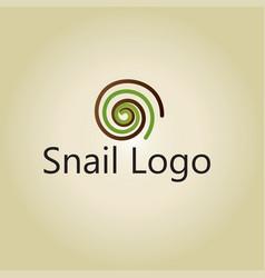 Snail logo ideas design vector