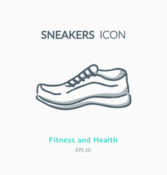 sneakers icon on white background vector image