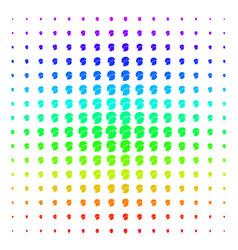 soldier helmet shape halftone spectrum grid vector image