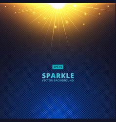 Sparkle sunbeam on halftone vector