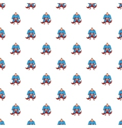 Superhero pattern cartoon style vector