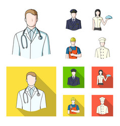 the doctor the pilot the waitress the builder vector image