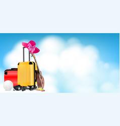 travel equipment vector image