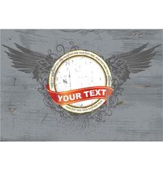 vintage grunge label vector image vector image