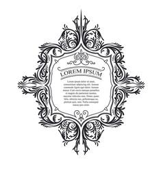 a vintage ornament frame vector image vector image