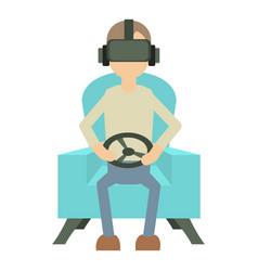 Game steering wheel icon cartoon style vector