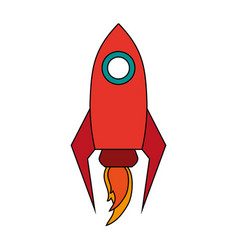 isolated rocket space ship vector image