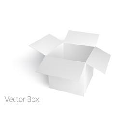 open white empty box mockup template vector image