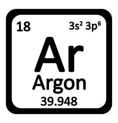Periodic table element neon icon vector image vector image