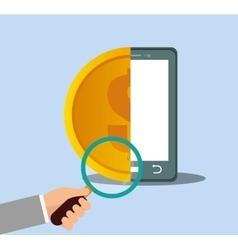 smartphone money internet security vector image