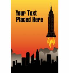 city rocket vector image vector image