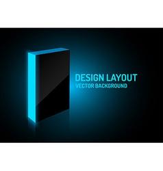 design box blue vector image