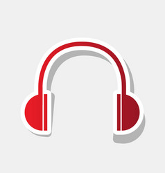 headphones sign new year vector image