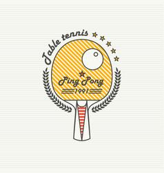 logo league table tennis ping pong vector image