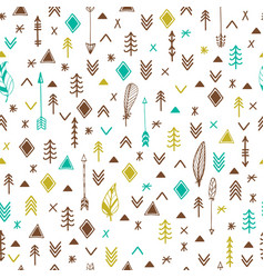 tribal hand drawn background ethnic seamless vector image vector image
