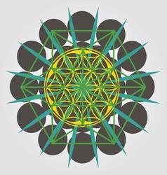 unique geometrical design with sacral sense vector image vector image