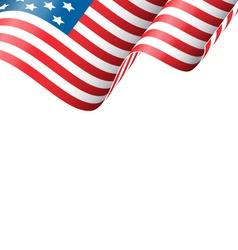 Wavy USA national flag isolated on white vector image