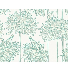 Hand drawn pattern with chrysanthemum vector image vector image