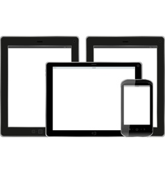 Set of modern digital tablet PC with mobile smart vector image vector image