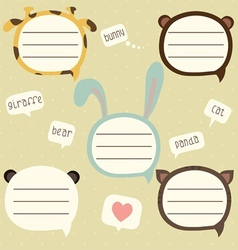 Speech bubble set for kids vector image