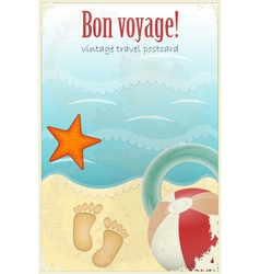 vintage travel postcard vector image