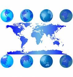 global maps vector image