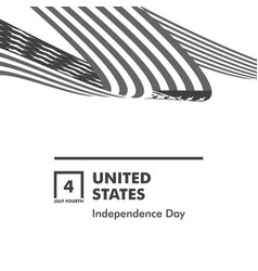 happy independence day monochrome curly twisted vector image