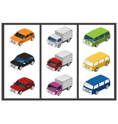 isometric car vector image vector image