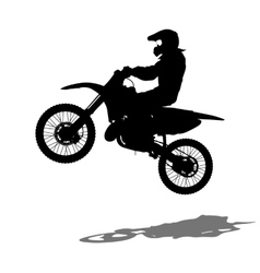 Silhouettes Rider participates motocross vector image