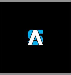 A s letter logo creative design on black color vector