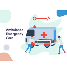 ambulance emergency care vector image