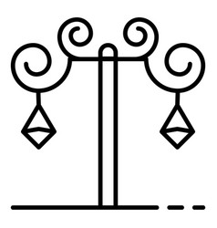 anvil street light pillar icon outline style vector image